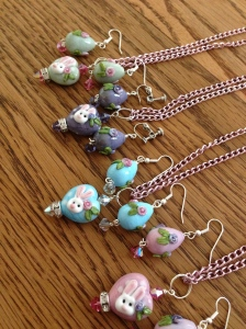 Bunny Pendants and Earrings