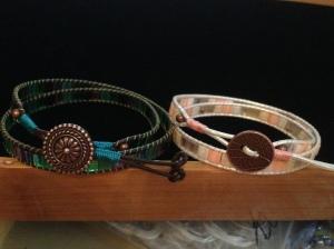 Leather mosaic wrap bracelets - Craft du Jour